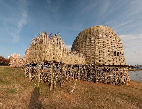 bamboo house pavilion niigata in 2019 bamboo bamboo
