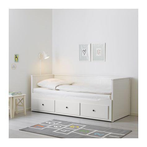HEMNES Struttura letto divano/3 cassetti, bianco bianco 80x200 cm