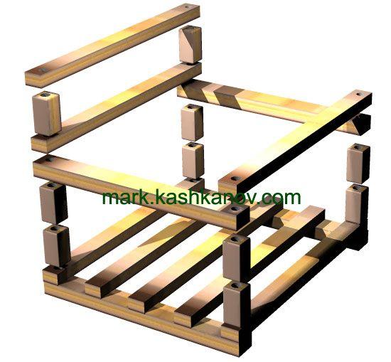 Подготовка деталей к сборке детских деревянных качелей