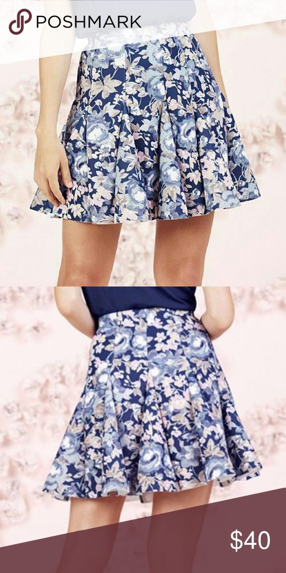 "LAST‼️Lauren Conrad Runway Collection Scuba Skirt NWT LC LAUREN CONRAD Runway Collection blue soft floral pattern and flirty godet design will give a gorgeous look with a touch of whimsy!  *Romantic Floral Print Stretchy scuba construction Unlined Approx length 18"", Waist 30"" Back zipper w/hook & eye closure Polyester/spandex Machine wash  *Bundle Discounts * No Trades * Smoke free LC Lauren Conrad Skirts Circle & Skater"
