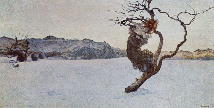 Giovanni Segantini, LE CATTIVE MADRI, 1897, Graffito su cartone, cm 40x74, Zurigo, Kunsthaus