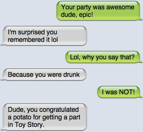 Epic text - Your party was awesome - http://jokideo.com/epic-text-your-party-was-awesome/