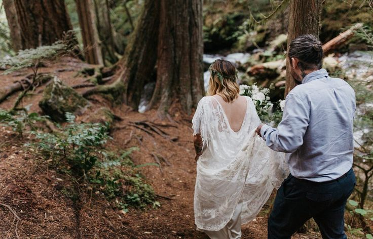 Image 26 - Danni   Rich: A Forest Elopement in Real Weddings.
