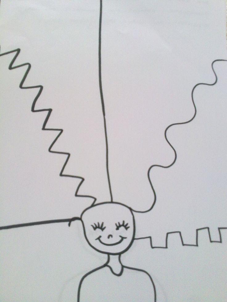 Μια εύκολη δραστηριότητα που βοηθάει να εξοικειωθούν τα χέρια των παιδιών στη χάραξη γραμμών (προγραφική δραστηριότητα κάποτε τη λέγαμε) είναι να ξεμαλλιάσουμε την κοπελιά.... είναι μια ωραία δραστ...