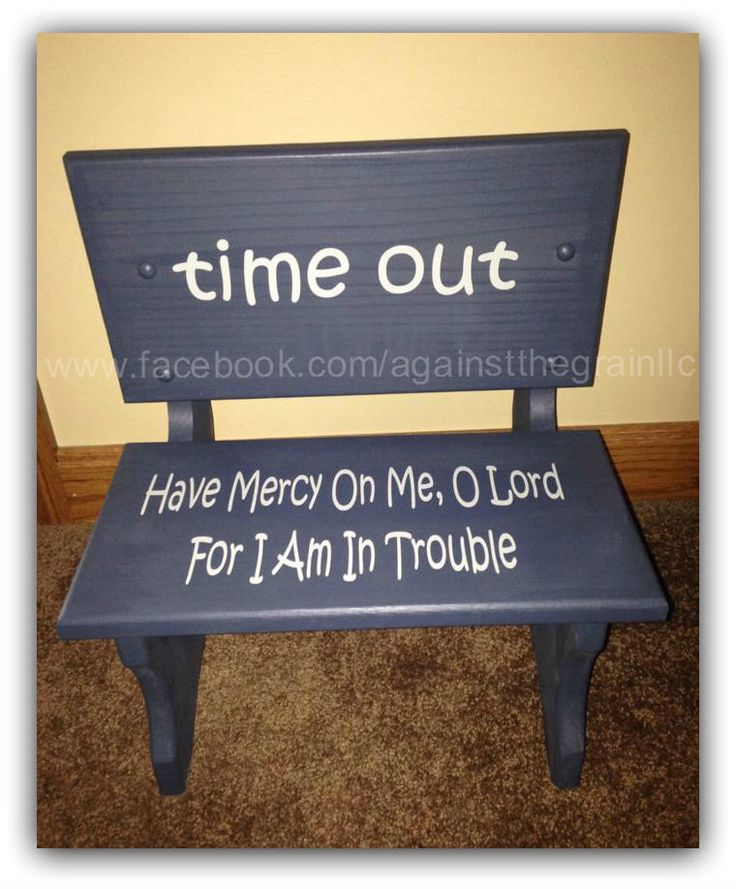 Handmade Wooden Toddler Time Out Chair Bench, Childrens Learning Behavior  Chair, Seat Can Be Personalized With Childs Name By AgainstTheGrainLLC On  Etsy