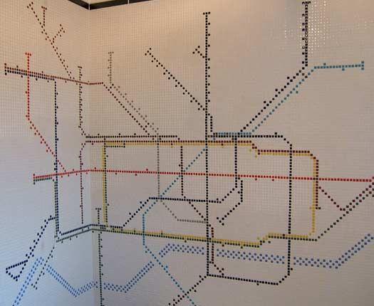 bathroom tile underground map