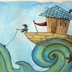 """Le pêcheur - série """"rêves d'enfants"""" a6"""