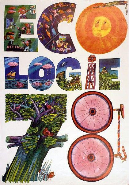 Écologie 78, affiche militante, 1978 /  Collections du Musée du Vivant - AgroParisTech