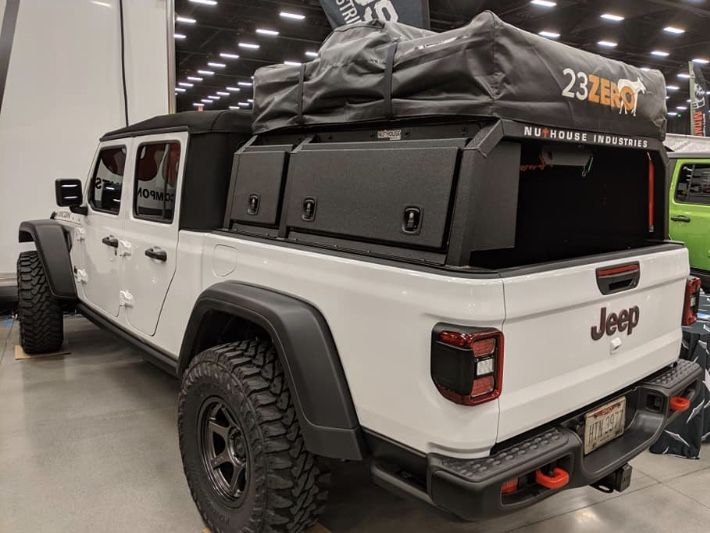 Nutzo Gladiator Mid Height Series Expedition Truck Bed Rack Nuthouse Industries Expedition Truck Jeep Gladiator Dream Cars Jeep