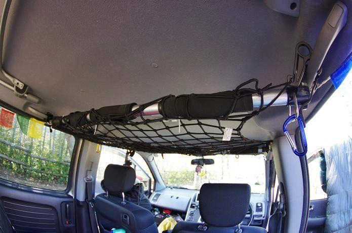 車の天井が積載スペースに 工具不要で値段もお得な インテリアバー って知ってる Camp Hack キャンプハック インテリア バー 車インテリア 天井収納