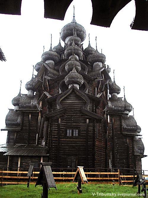 Kizhi Island. Russia. Built without a single nail 300 years ago.