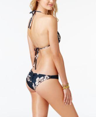 Rachel Rachel Roy Blossom Halter Triangle Bikini Top - Blue XS