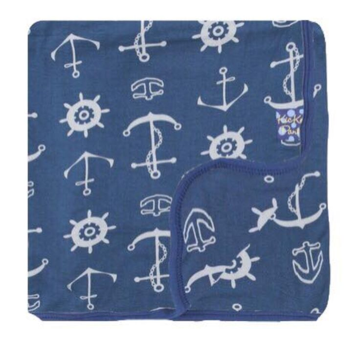 Custom Toddler Blanket - Twilight Anchor with Twilight Anchor Backing + Twilight Trim by Kickee Pants - FALL 3 PRESALE (2ND DELIVERY)