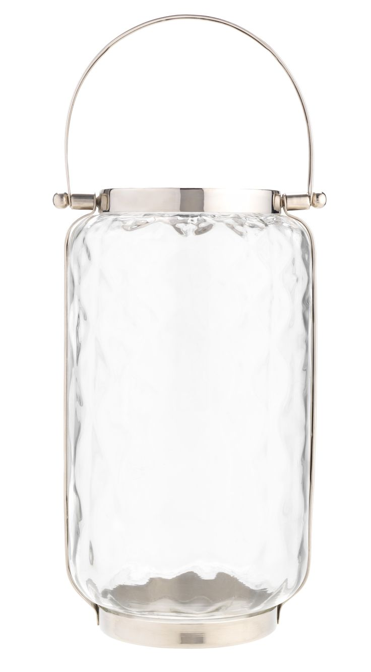 Although this glass lantern is pretty enough to stand alone, its faceted design makes a candle's glow even more mesmerising. Priced at £15.