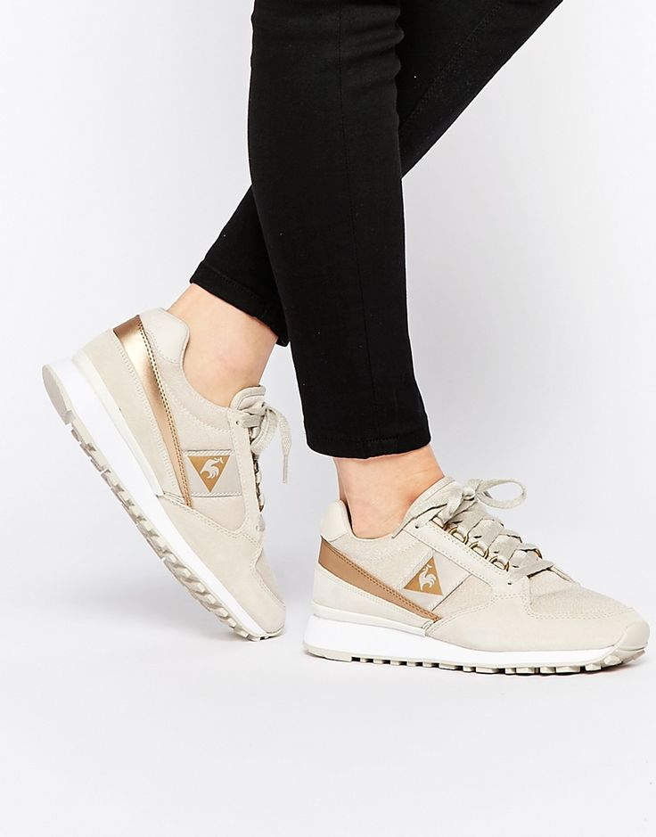 Image 1 of Le Coq Sportif Eclat Gold Metallic Trainers