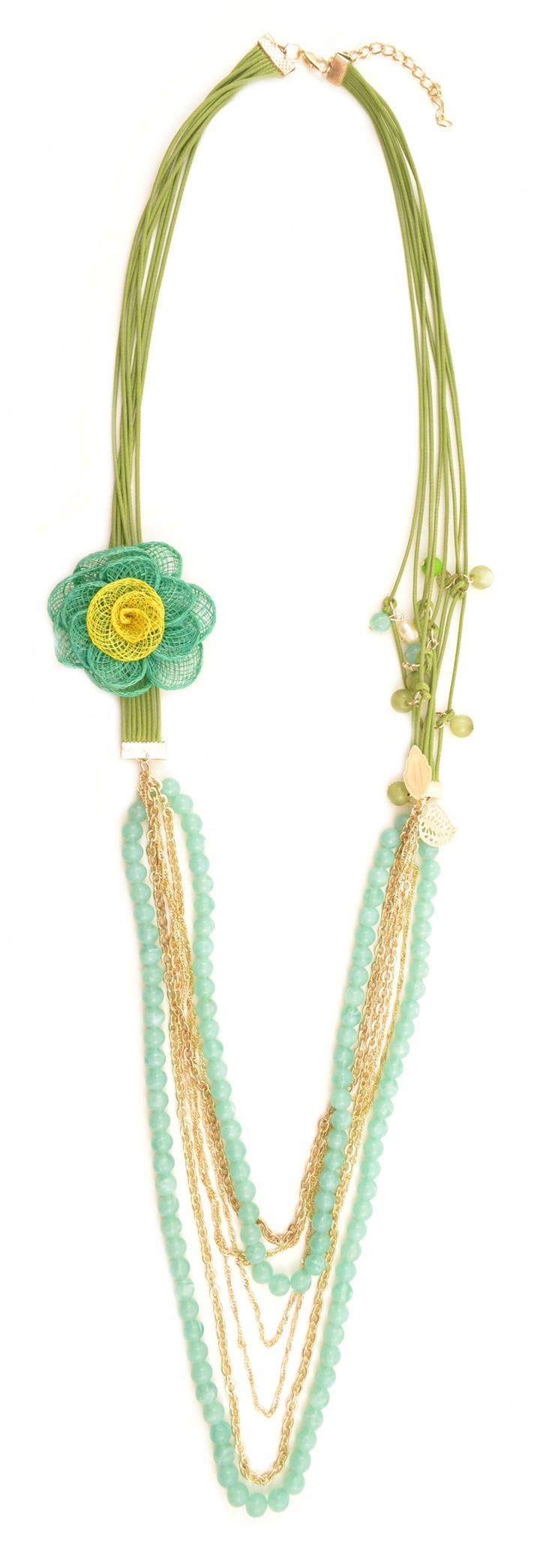 """Colier """"Green flower"""" - Meli Melo - Paris"""