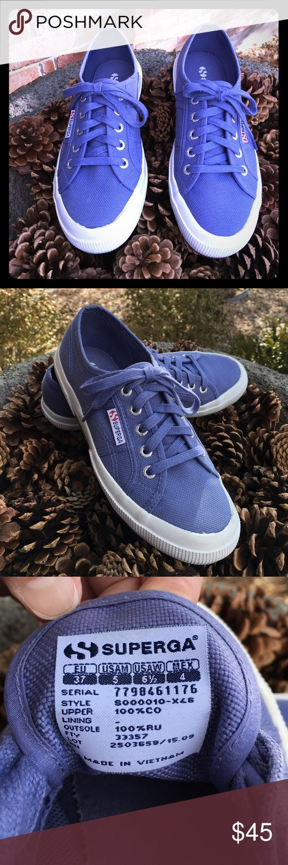 Superga Periwinkle Sneakers EUC Superga sneakers. Canvas material, size US women's 7. Superga Shoes Sneakers