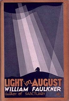 Light In August - William Faulkner   This is the most straight forward of Faulkner's novels I have read so far, and though full of awful events and warped perspectives of the post Civil War south it ends on a slightly humorous note. My least favorite of his novels, it is still a good and mind expanding read.