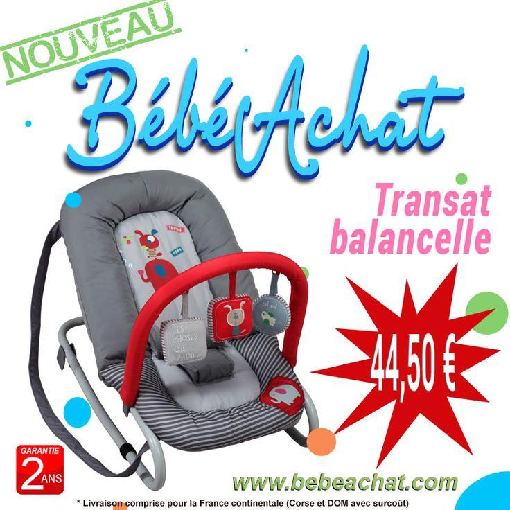 #Transat #balancelle pour #bébé avec arche de jeux amovible  Pour un #bébé de la naissance à 9 Kg (9 mois environ)  Livraison gratuite pour la #France continentale (Corse et DOM avec surcoût) http://www.bebeachat.com/transat-bebe/399-transat-balancelle-pour-bebe-avec-arche-de-jeux-amovible.html  BébéAchat.com :: La Boutique Web des Bébés le magasin web des #bébés !