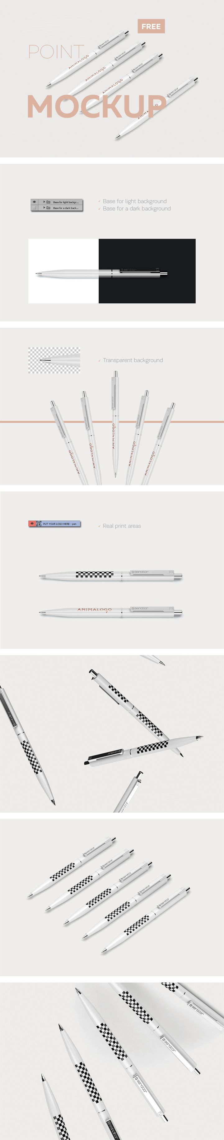 A set of free Pen Mockup that you can use in your identity project. Place your design using Smart Objects. Copy and paste your design, save and all done.