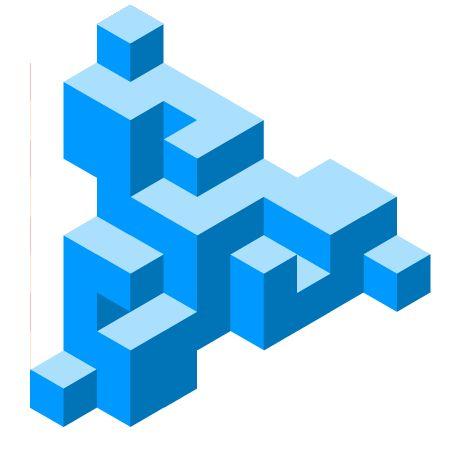Galería de imagenes de www.educacionplastica.net :: Figuras Imposibles en Perspectiva Isométrica :: imposible12_001