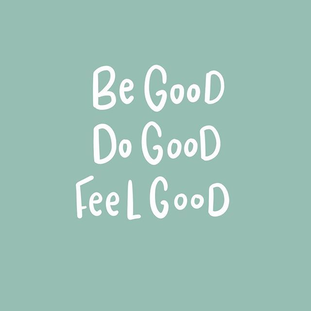 Because when you do good, you feel good. ✌️
