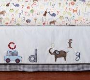 ABC Crib Bed Skirt-Pottery Barn Kids