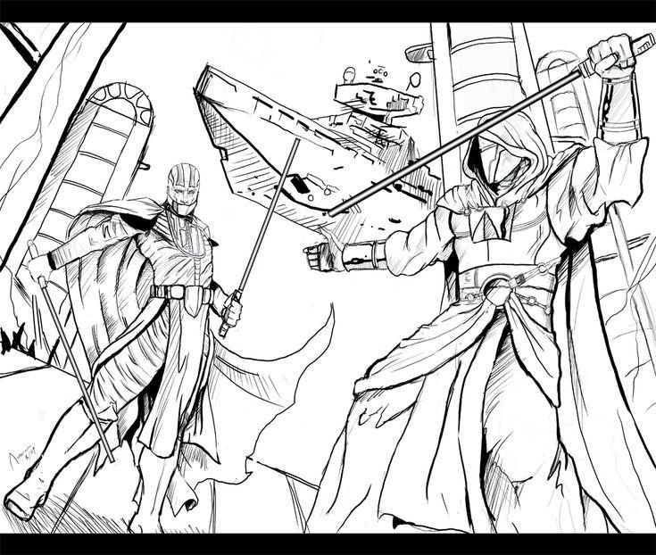 Darth Revan vs Darth Malak by archerion on DeviantArt ...