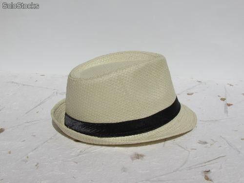 Sombrero borsalino .Sombrero de rafia para bodas