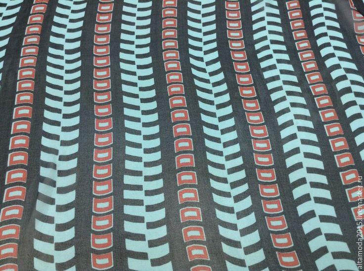 Купить Креп шифон Valentino, ткань Италия - бирюзовый, альта мода, от кутюр, ткани