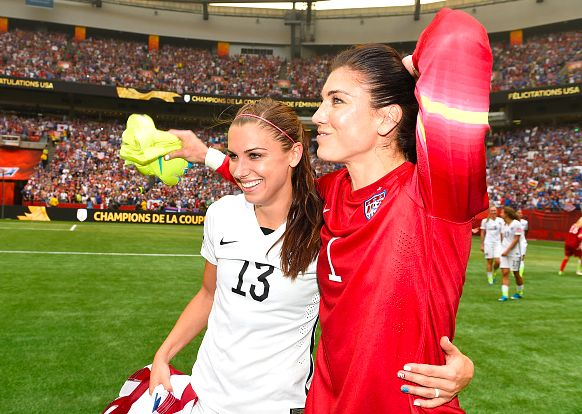 Hope Solo and Alex Morgan