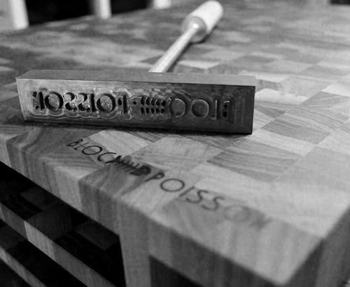 Signature Bloc Poisson / Branding iron Bloc Poisson. #brandingiron #signaturepoisson