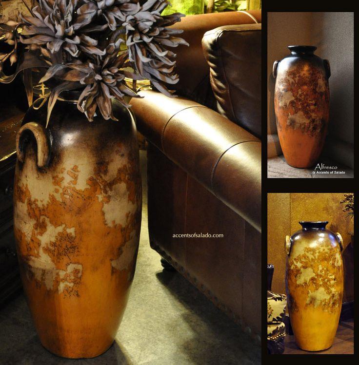 Tall Tuscan Floor Vase Vases Pinterest Vase Style