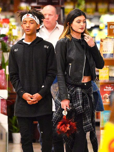 TAKE TWO | Jaden Smith and Kylie Jenner play the match game with their all-black ensembles during a grocery run in Calabasas, Calif., on Sunday.