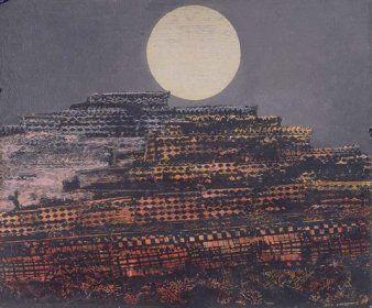 La ville pétrifiée 1933  de Max Ernst  Frottages divers 50x61cm