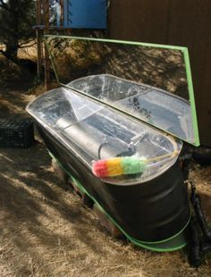 The Homestead Survival | Updated Solar Water Heater from Stock Tank | http://thehomesteadsurvival.com
