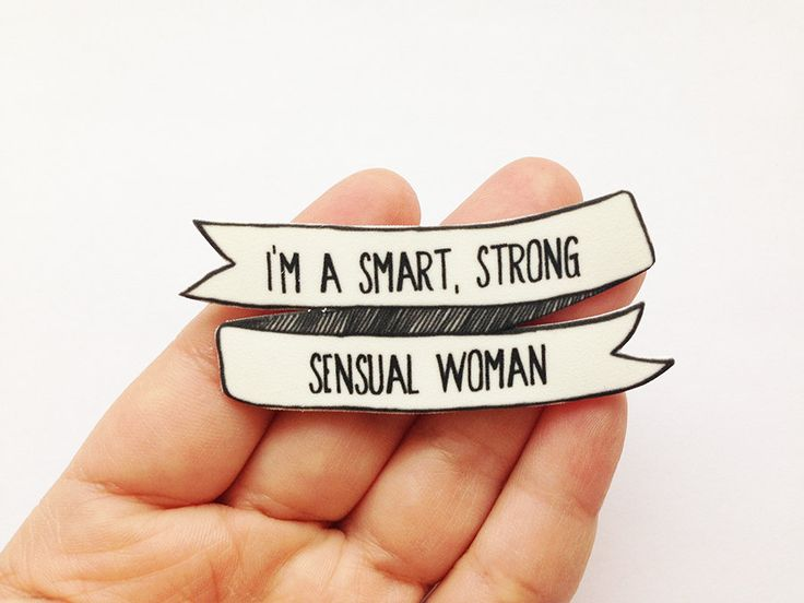 Tina Belcher Brooch  I'm a Smart Strong Sensual by SleepyMountain