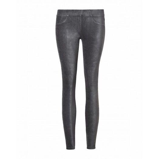 Leggings, in velluto stretch, tinta unita con finte tasche frontali.4DZB571S4 grey