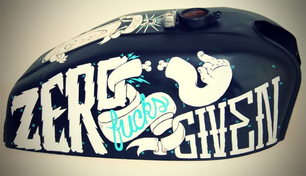 Custom Painted Motorcycle Tank