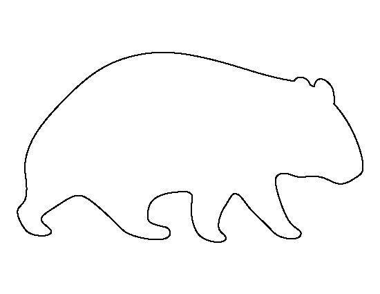 Wombat pattern. Use the printable outline for crafts, creating stencils, scrapbooking, and more. Free PDF template to download and print at http://patternuniverse.com/download/wombat-pattern/