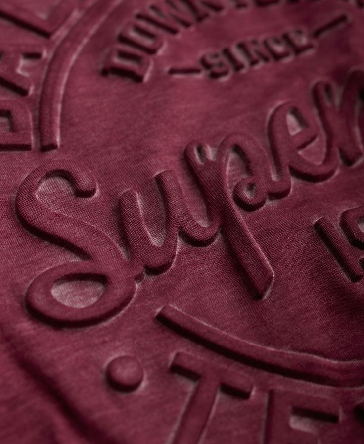 Womens - Emboss Top in Rich Berry | Superdry
