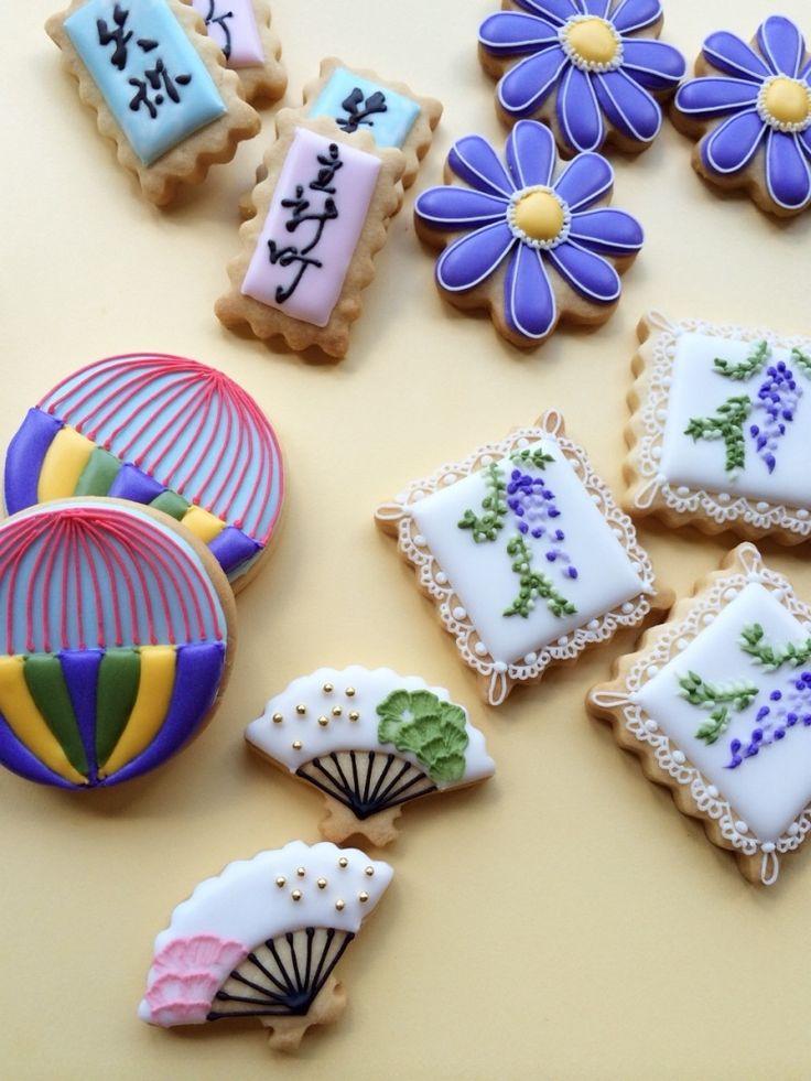 和柄クッキー。 石川・金沢・小松 アイシングクッキーサロン Little Sugar