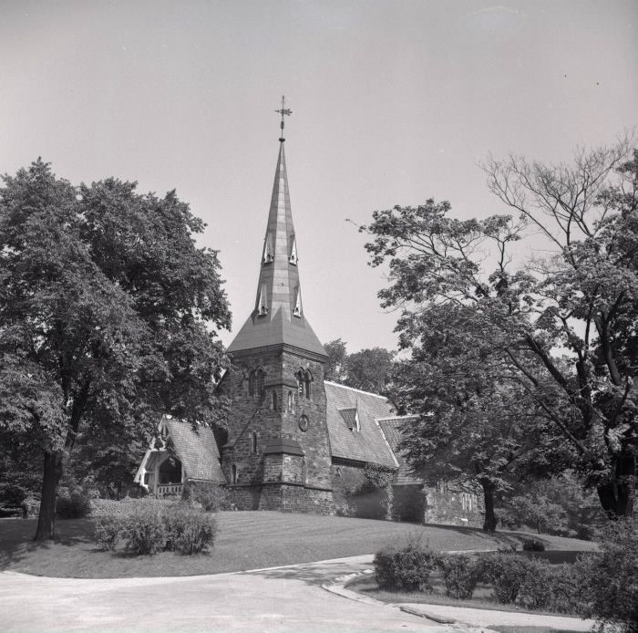 St. James Anglican Cemetery, Parliament St., e. side, between Wellesley & Bloor Sts. E.; St. James-the-less chapel. 1956