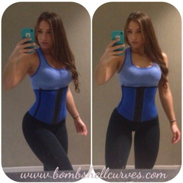 Waist Training Corset - Lose 4 inches off your waistline in 30 days with the Bombshell Sport Waist Cincher! Available on http://BombshellCurves.com