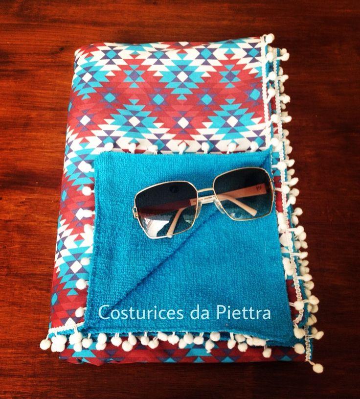 Toalha canga Arrase na praia ou na piscina!  Instagram: @costurices.da.piettra Facebook: @costuricesdapiettra