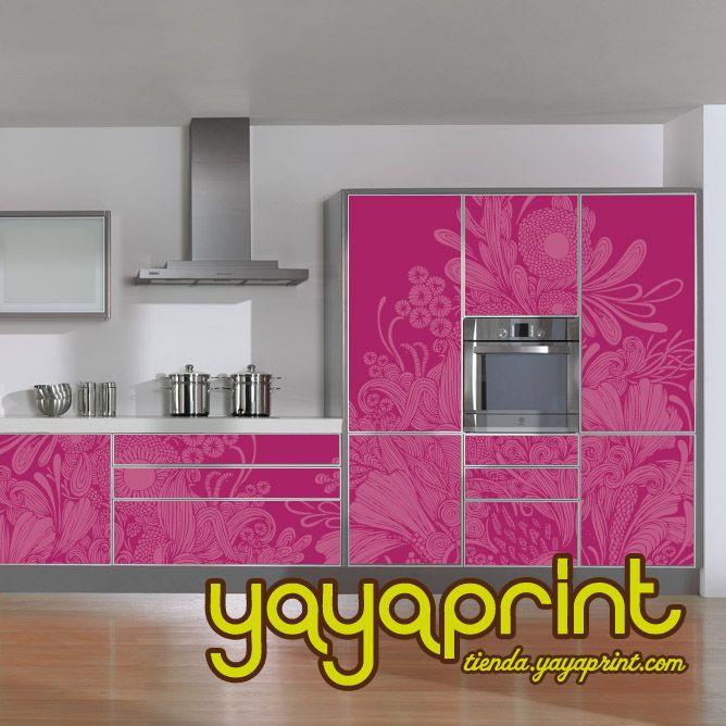 The 25 best vinilos para armarios ideas on pinterest vinilos para puertas cocina de vinilo - Pegatinas para cocina ...