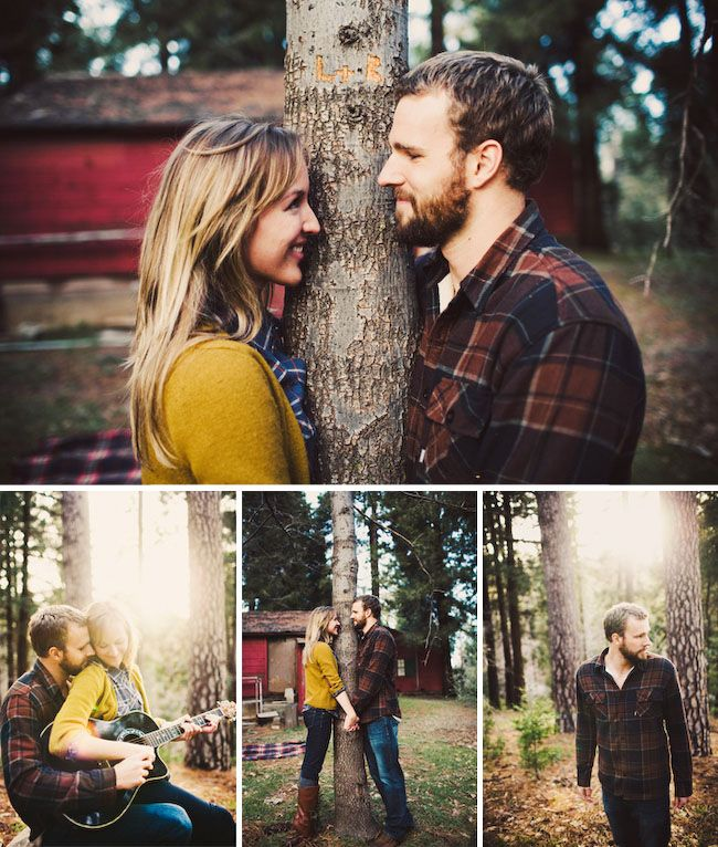 photographer Shannen Norman captures Lauren and Brian's engagement with a camping-inspired photoshoot