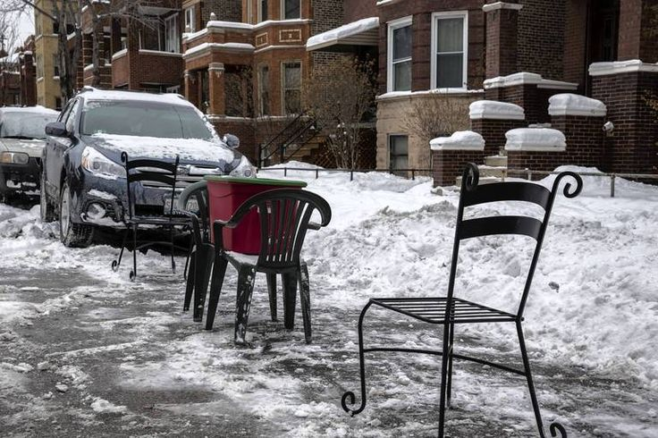 Dibs Saving Your Parking Spot In Chicago Patio Chairs An A Tupperware Save This Spot On Walton Street At Washtenaw A Patio Chairs Favorite City Walton Street