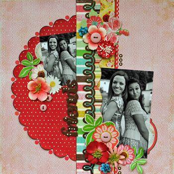 Flower scrapbook page: Galleries, Scrapworthi Layout, Friends, Parks Layout, Flower Scrapbook, Creative Scrapbook, Bright Flowers Gardens, Gotta Scrap, Half Pages Scrapbook Layout