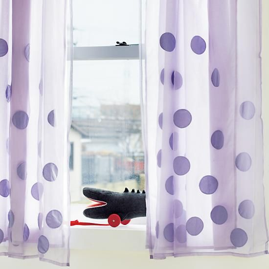 The Land Of Nod | Kidsu0027 Curtains: Kids Lavender Bubble Curtain Panels In  Curtains